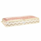 HouseCandie Under-the-Bed Storage Bag, Textured Chevron