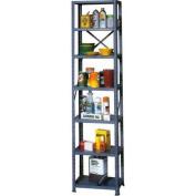 Muscle Rack 30cm W x 46cm D x 180cm H 7-Shelf Steel Shelving, Grey