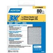 Norton ProSand A259 3X High Performance Sanding Sheet, 28cm x 23cm , 80 Grit, Job Pack