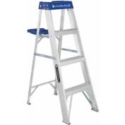 Louisville Ladder 1.2m Aluminium Step Ladder, 110kg Duty Rated Type I