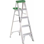 Louisville Ladder 1.5m Aluminium Step Ladder, 100kg Duty Rated Type II