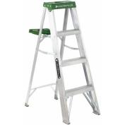 Louisville Ladder 1.2m Aluminium Step Ladder, 100kg Duty Rated Type II