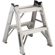 Louisville Ladder 0.6m Aluminium Twin-Front Step Stool, 140kg Duty Rated