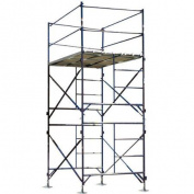 Buffalo Tools 4.1m H x 210cm W x 150cm D Steel Two StorystationeryScaffold Tower with 170kg. Load Capacity Type 2A Duty Rating