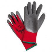 Ninja Flex Latex-Coated-Palm Gloves, Nylon Shell, XL, Red/Grey
