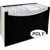C-Line 21-Pocket Stand-Up Design Expanding File, 30cm Expansion, Legal, 38cm x 23cm - 0.6cm , Black