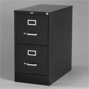 Hirsh Industries 2500 Series 2 Drawer Letter File Cabinet in Black