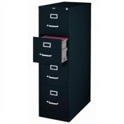 Hirsh Industries 2500 Series 4 Drawer Letter File Cabinet in Black
