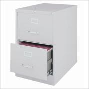 Hirsh Industries 3000 Series 2 Drawer Legal File Cabinet in Grey