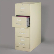 Hirsh Industries 3000 Series 4 Drawer Legal File Cabinet in Putty