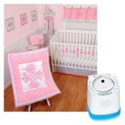 Sumersault Princess Crib Bedding 4 Piece Set with Munchkin Nursery Sound Machine