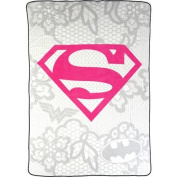 """Warner Bros Justice League """"Awesome Girl"""" Twin Blanket"""