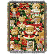 Holiday Bears 120cm x 150cm Holiday Woven Tapestry Throw