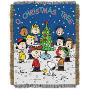 """Peanuts """"Charlie Brown Christmas"""" 120cm x 150cm Woven Tapestry Throw"""
