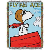 """Peanuts """"Flying Ace"""" 120cm x 150cm Woven Tapestry Throw"""