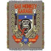 "Gas Monkey Garage ""Tounge Swag"" 120cm x 150cm Woven Tapestry Throw"