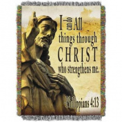 Strengthens Me 120cm x 150cm Woven Tapestry Throw