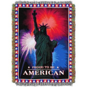 July 4th 120cm x 150cm Holiday Woven Tapestry Throw