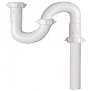 Plumb Pak/Keeney Mfg. 270WK Plastic S-Trap-1-1/4 WHT PLASTIC S-TRAP