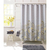 Better Homes and Gardens Yellow Paisley Fabric Shower Curtain