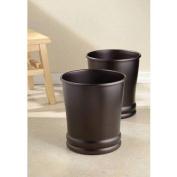 InterDesign Olivia Wastebasket Trash Can, Bronze