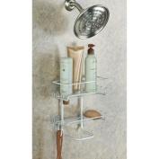 InterDesign Classico Suction Shower Shelves, Pearl White