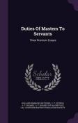 Duties of Masters to Servants