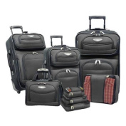 Travel Select by Traveller's Choice Amsterdam II 8-piece Deluxe Packing Luggage Set Grey