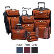 Travel Select by Traveller's Choice Amsterdam II 8-piece Deluxe Packing Luggage Set Navy