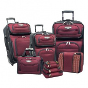 Travel Select by Traveller's Choice Amsterdam II 8-piece Deluxe Packing Luggage Set Red
