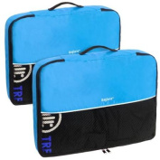 Baglane Aquamarine TechLife Nylon Luggage Packing Cube Bags -2pc Set