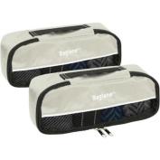 Baglane Grey TechLife Nylon Luggage Travel Packing Cube Bags -2pc Set X-Small