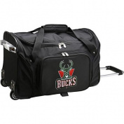 Denco Sports Luggage NBA Milwaukee Bucks 60cm Rolling Duffel