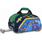 J World Robot Kids' 43cm Rolling Duffel Bag