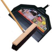 Emsco Group Push Broom With Utility Pan