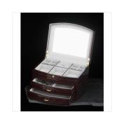 Bey-Berk 18cm Jewellery Box in High Lacquer Ebony
