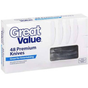 Great Value Premium Clear Knives, 48 ct