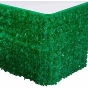 Vinyl Floral Sheeting Table Skirt, Green