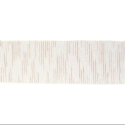 Beige and Ivory White Striped Wired Craft Ribbon 10cm X 40 Yards