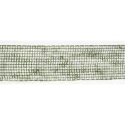 Green Jute and Nylon Wired Mesh Craft Ribbon 10cm X 60 Yards