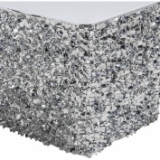 Metallic Floral Sheeting Table Skirt, Silver