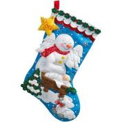 Snow Angel Stocking Felt Applique Kit, 46cm Long