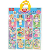 T.S. Shure Sweets Hearts Tea Party Wooden Magnetic Dress-Up Dolls