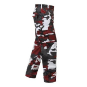 Ultra Force Red Camouflage B.D.U. Pants, Size 3X Large