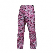 Military Style Digital Camo BDU Pants, Pink Digital Camouflage, 2XL