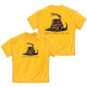 Don't Tread on Me Tea Party T-shirt, Erazor Bits, Yellow, 2XL