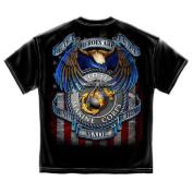 True Heroes Marines USMC Military T-Shirt by Erazor Bits, Black, 3XL