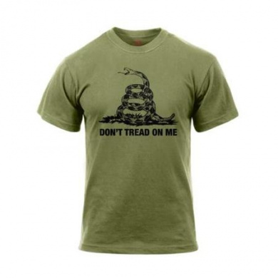 "Rothco ""Don't Tread On Me"" Vintage Style T-Shirt, Olive Drab, X-Large"