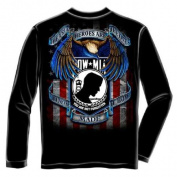 True Heroes POW-MIA Armed Forces Long Sleeve T-Shirt by Erazor Bits, Black, 2XL