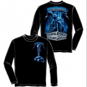 Never Forget Fallen Soldier Long Sleeve T-shirt by Erazor Bits, Black, XL
